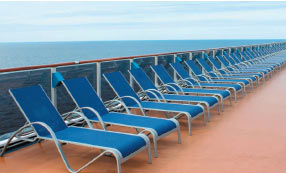 chairs on cruise ship deck